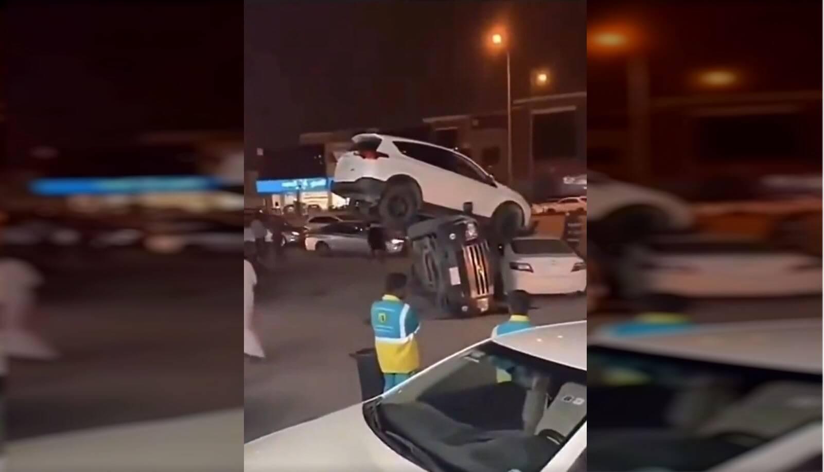 Crash Toyota RAV4 Saudia